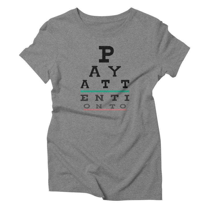 Detailz Women's Triblend T-Shirt by learnthebrand's Artist Shop