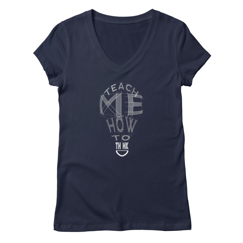 Teach Me Women's V-Neck by learnthebrand's Artist Shop