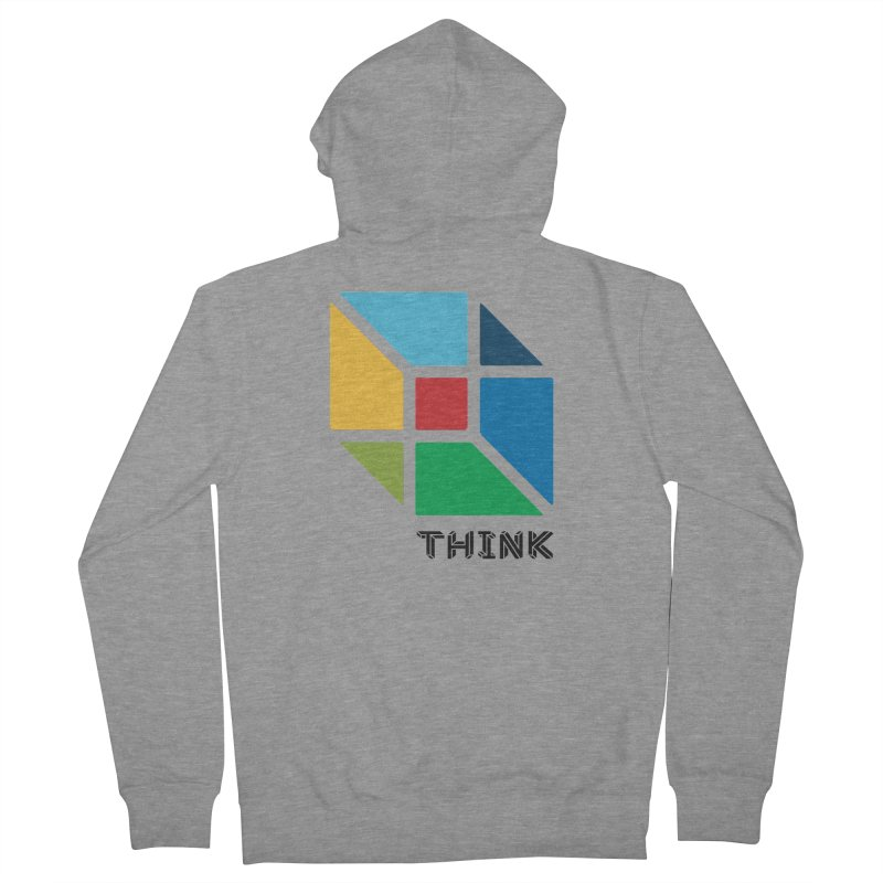 Think Outside Box, C2 Women's French Terry Zip-Up Hoody by learnthebrand's Artist Shop