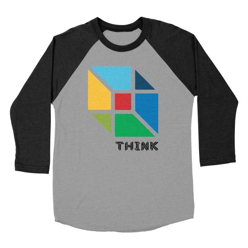 Think Outside Box, C2 Men's Baseball Triblend Longsleeve T-Shirt by learnthebrand's Artist Shop