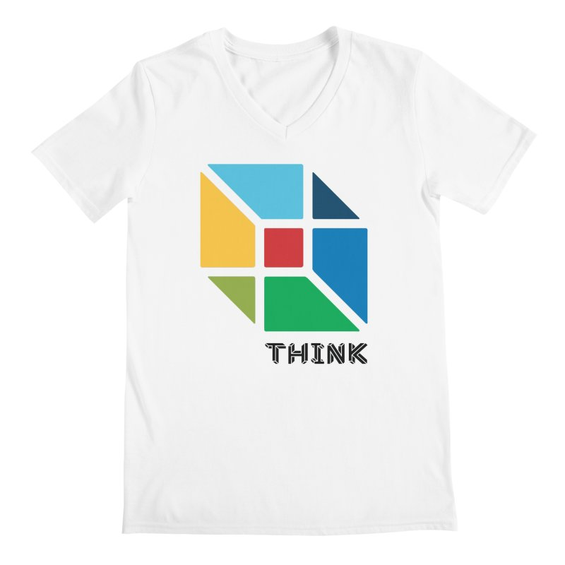 Think Outside Box, C2 Men's V-Neck by learnthebrand's Artist Shop