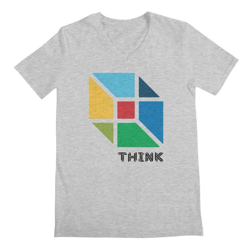 Think Outside Box, C2 Men's V-Neck by learnthebrand's Artist Shop
