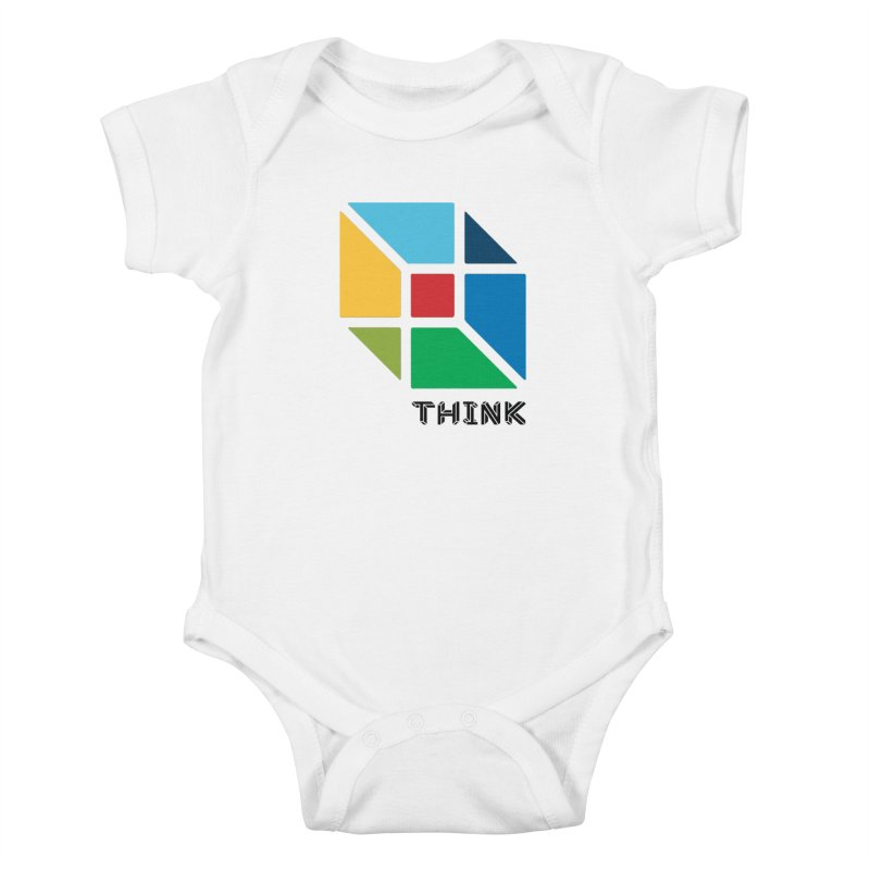 Think Outside Box, C2 Kids Baby Bodysuit by learnthebrand's Artist Shop
