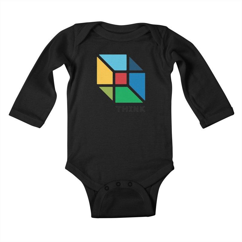 Think Outside Box, C2 Kids Baby Longsleeve Bodysuit by learnthebrand's Artist Shop