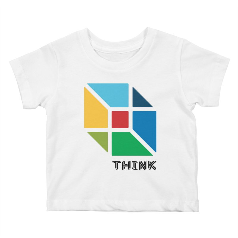 Think Outside Box, C2 Kids Baby T-Shirt by learnthebrand's Artist Shop