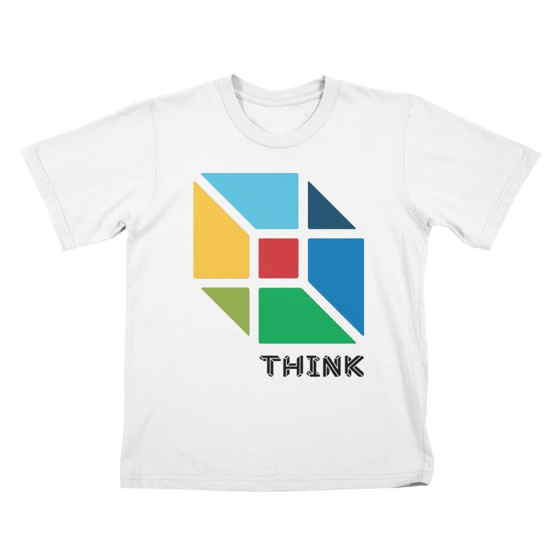 Think Outside Box, C2 Kids T-Shirt by learnthebrand's Artist Shop