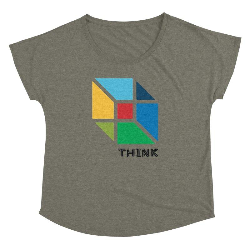 Think Outside Box, C2 Women's Dolman by learnthebrand's Artist Shop