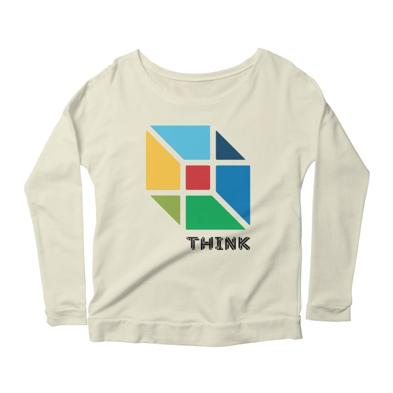 Think Outside Box, C2 Women's Longsleeve Scoopneck  by learnthebrand's Artist Shop