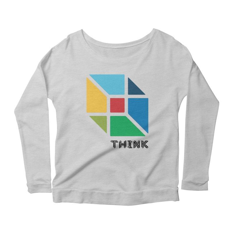 Think Outside Box, C2 Women's Longsleeve Scoopneck  by learnthebrand's Artist Shop