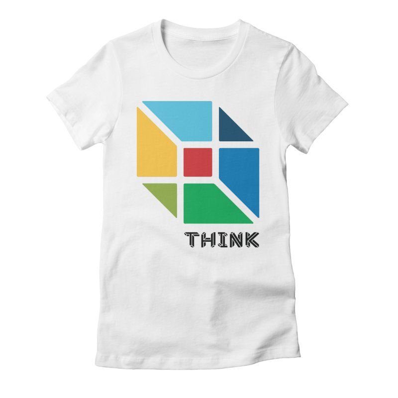 Think Outside Box, C2 Women's Fitted T-Shirt by learnthebrand's Artist Shop