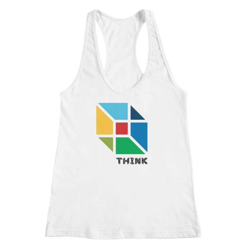 Think Outside Box, C2 Women's Racerback Tank by learnthebrand's Artist Shop