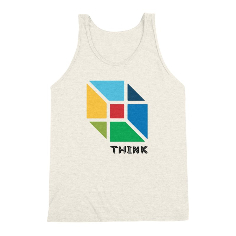 Think Outside Box, C2 Men's Triblend Tank by learnthebrand's Artist Shop