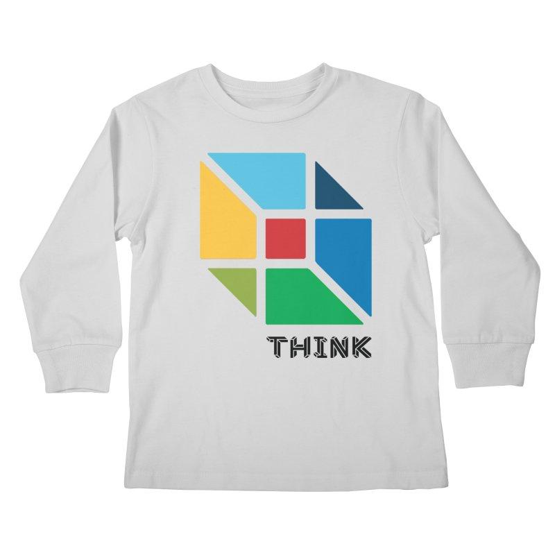 Think Outside Box, C2 Kids Longsleeve T-Shirt by learnthebrand's Artist Shop