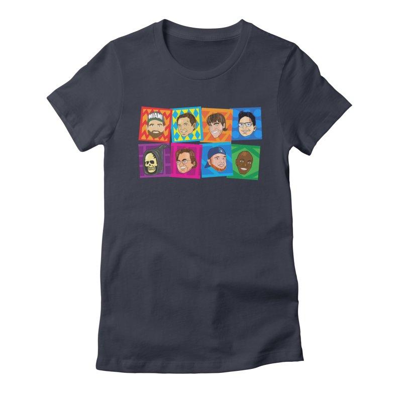Show Team Faces Women's T-Shirt by The Official Dan Le Batard Show Merch Store