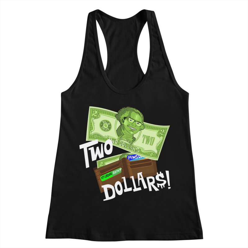 Two Dollar$! Women's Racerback Tank by The Official Dan Le Batard Show Merch Store
