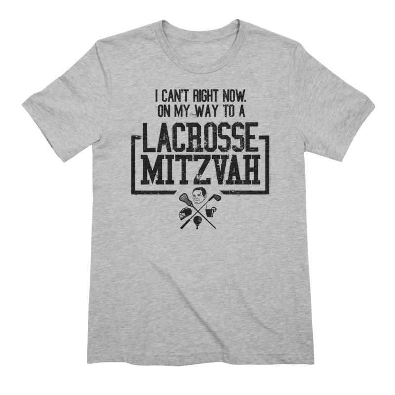 Lacrosse Mitzvah Men's Extra Soft T-Shirt by The Official Dan Le Batard Show Merch Store