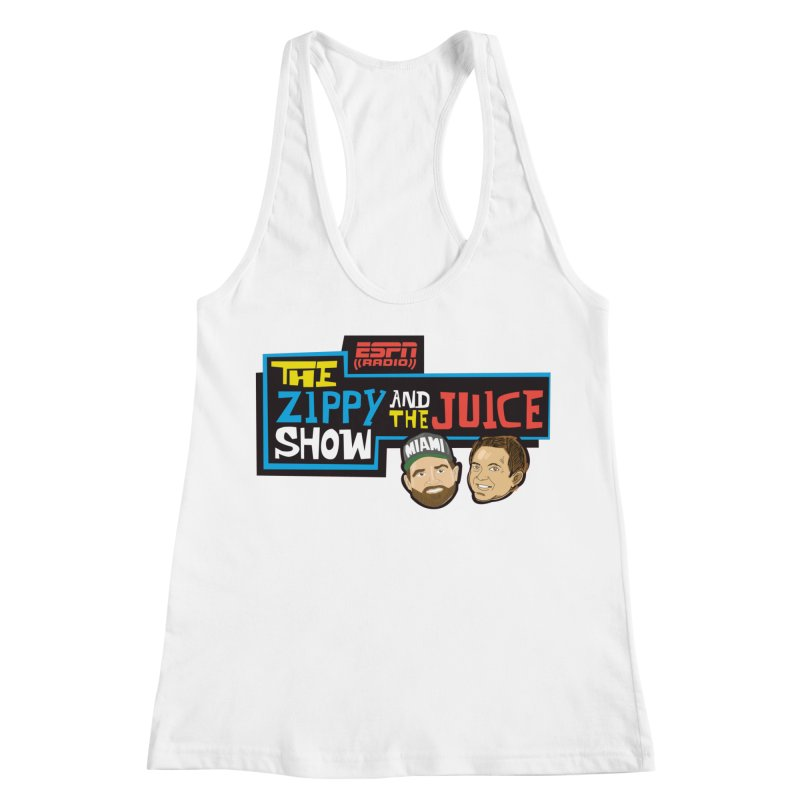 The Zippy and The Juice Show Women's Racerback Tank by The Official Dan Le Batard Show Merch Store