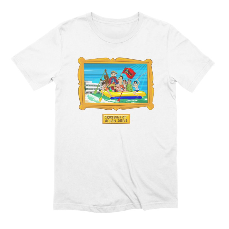 Crossing Ocean Drive Men's Extra Soft T-Shirt by The Official Dan Le Batard Show Merch Store