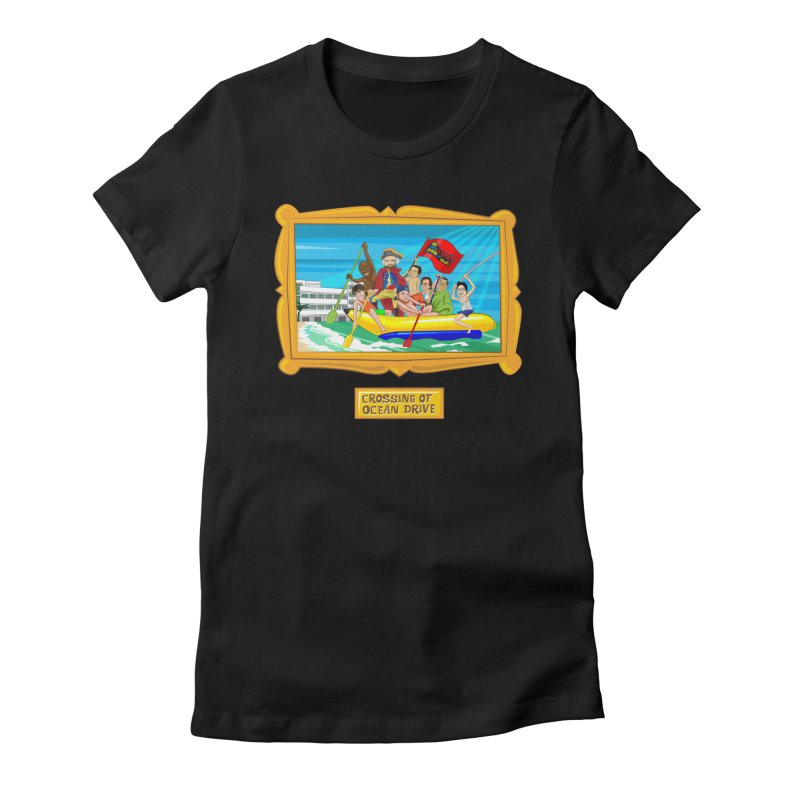 Crossing Ocean Drive Women's Fitted T-Shirt by The Official Dan Le Batard Show Merch Store