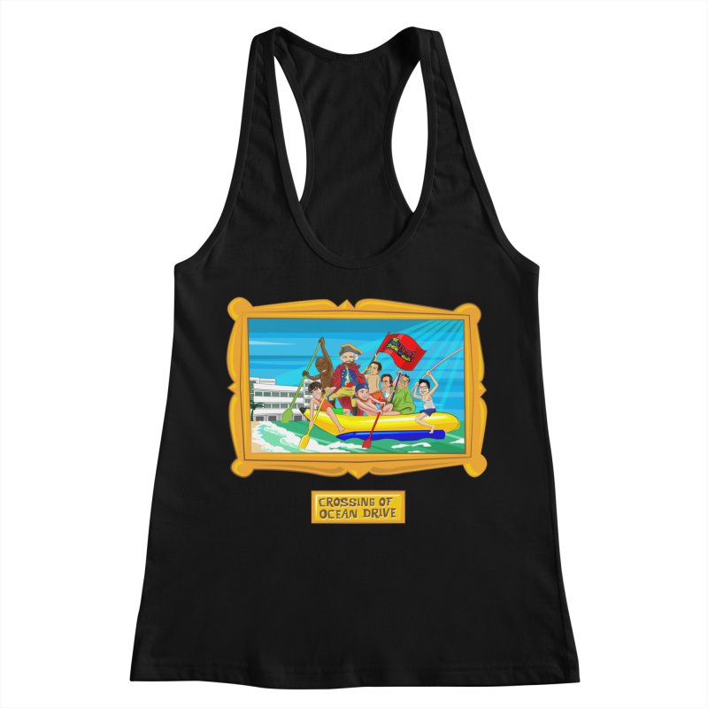 Crossing Ocean Drive Women's Racerback Tank by The Official Dan Le Batard Show Merch Store
