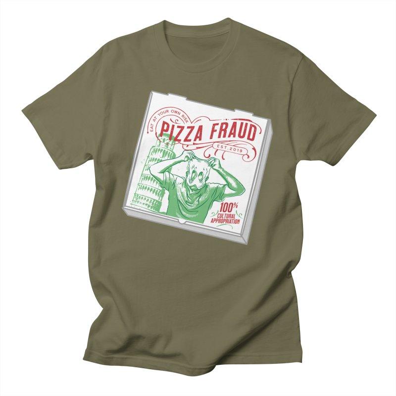 Pizza Fraud Men's T-Shirt by The Official Dan Le Batard Show Merch Store