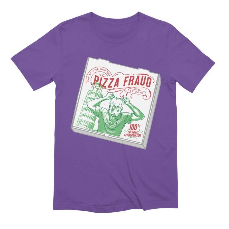 Pizza Fraud Men's Extra Soft T-Shirt by The Official Dan Le Batard Show Merch Store