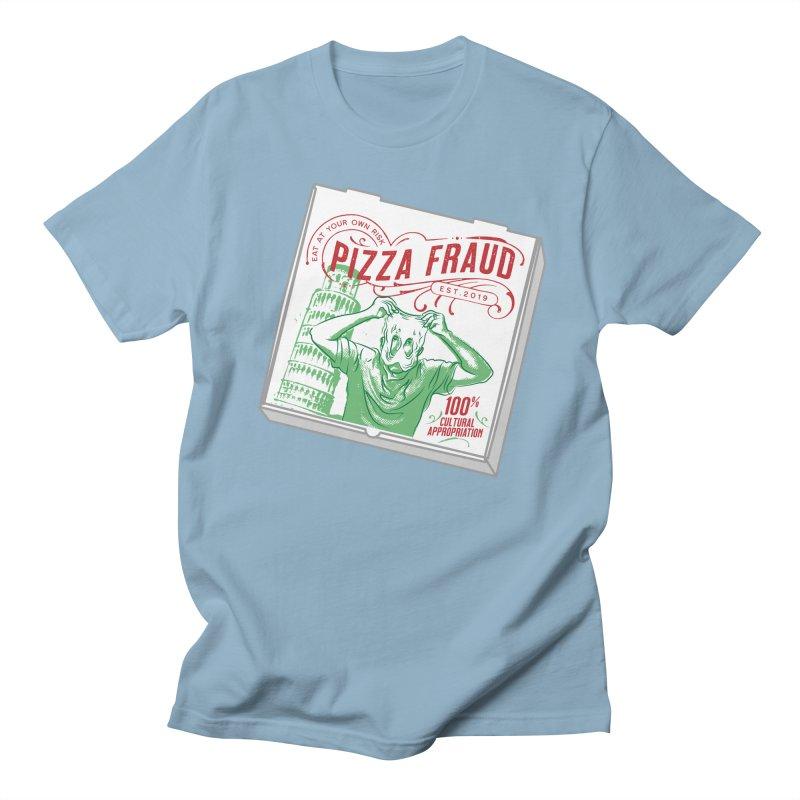 Pizza Fraud Men's Regular T-Shirt by The Official Dan Le Batard Show Merch Store