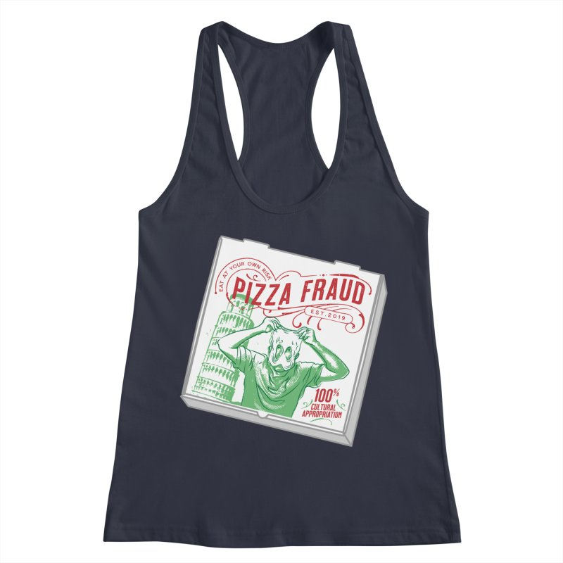 Pizza Fraud Women's Tank by The Official Dan Le Batard Show Merch Store