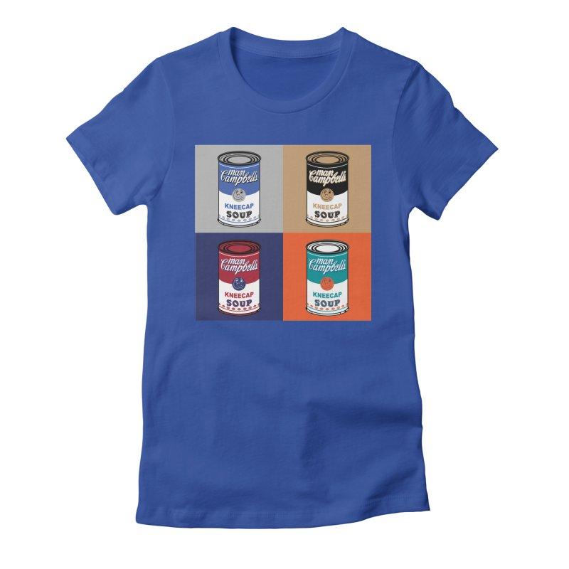 Man Campbell's Pop Art Soup Women's T-Shirt by The Official Dan Le Batard Show Merch Store