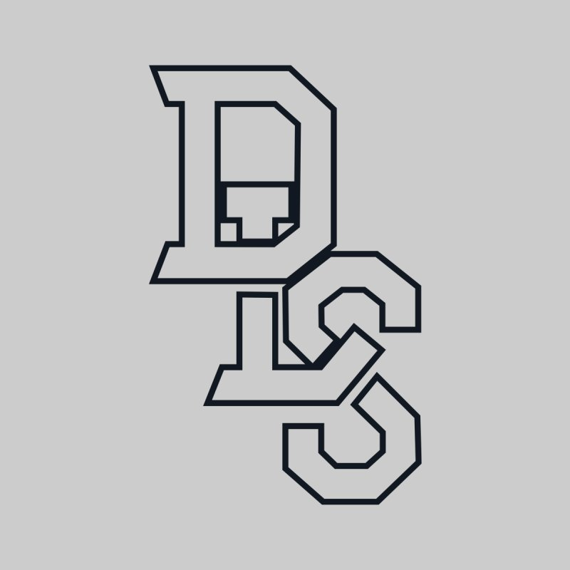 DLS Team outline black Accessories Hat by The Official Dan Le Batard Show Merch Store