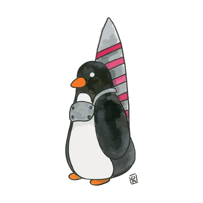 Rocket penguin Women's T-Shirt by Lee Draws Stuff