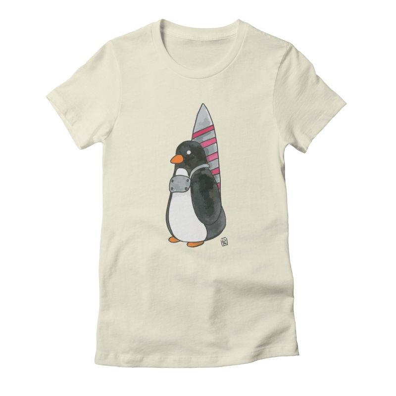 Rocket penguin Women's T-Shirt by Lee Draws Stuff