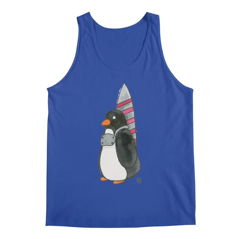 Rocket penguin Men's Tank by Lee Draws Stuff