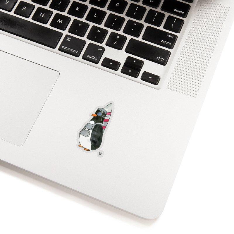 Rocket penguin type 2 Accessories Sticker by Lee Draws Stuff