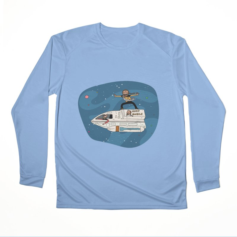 Teen Worf - These waves are mine, Commander. Men's Longsleeve T-Shirt by Lee Draws Stuff