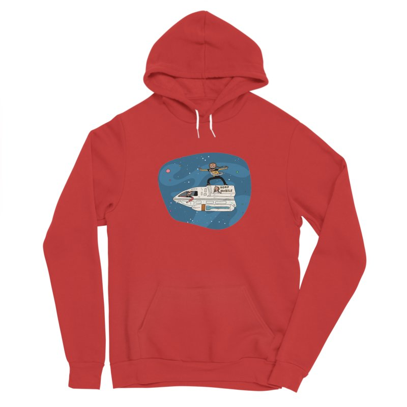Teen Worf - These waves are mine, Commander. Women's Pullover Hoody by Lee Draws Stuff
