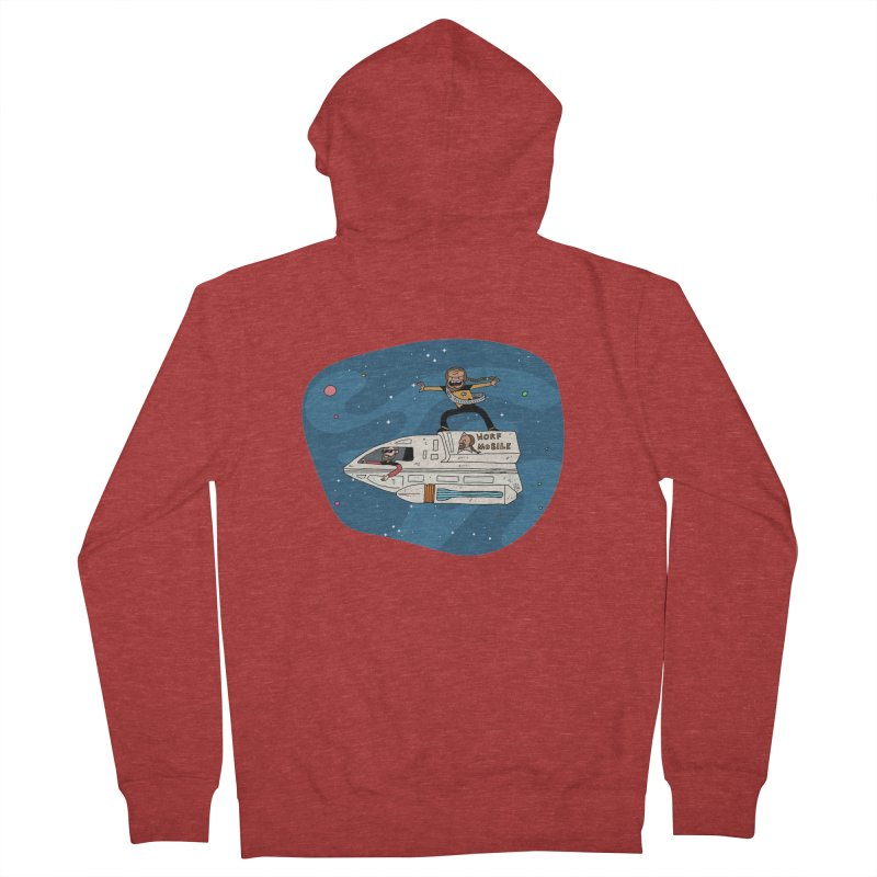 Teen Worf - These waves are mine, Commander. Women's French Terry Zip-Up Hoody by Lee Draws Stuff