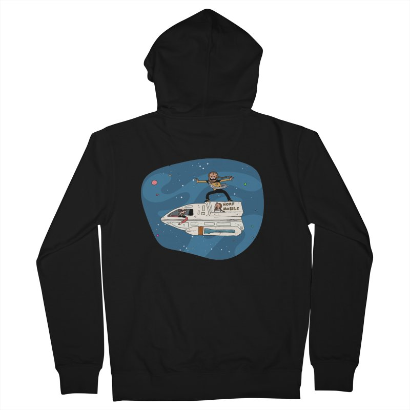 Teen Worf - These waves are mine, Commander. Men's Zip-Up Hoody by Lee Draws Stuff