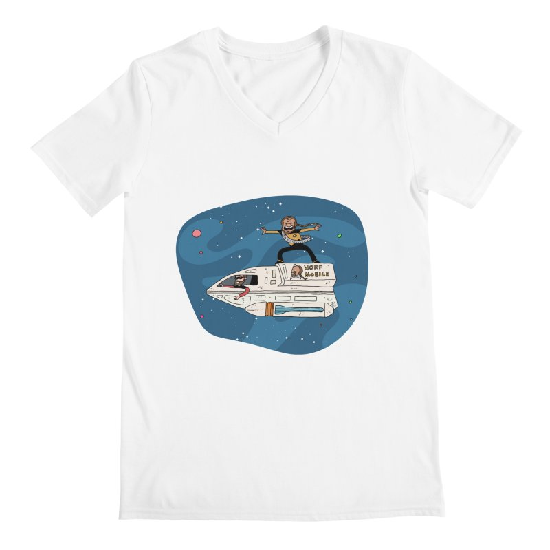 Teen Worf - These waves are mine, Commander. Men's V-Neck by Lee Draws Stuff