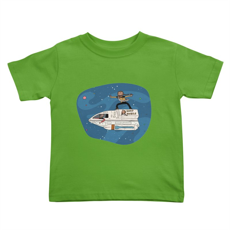 Teen Worf - These waves are mine, Commander. Kids Toddler T-Shirt by Lee Draws Stuff