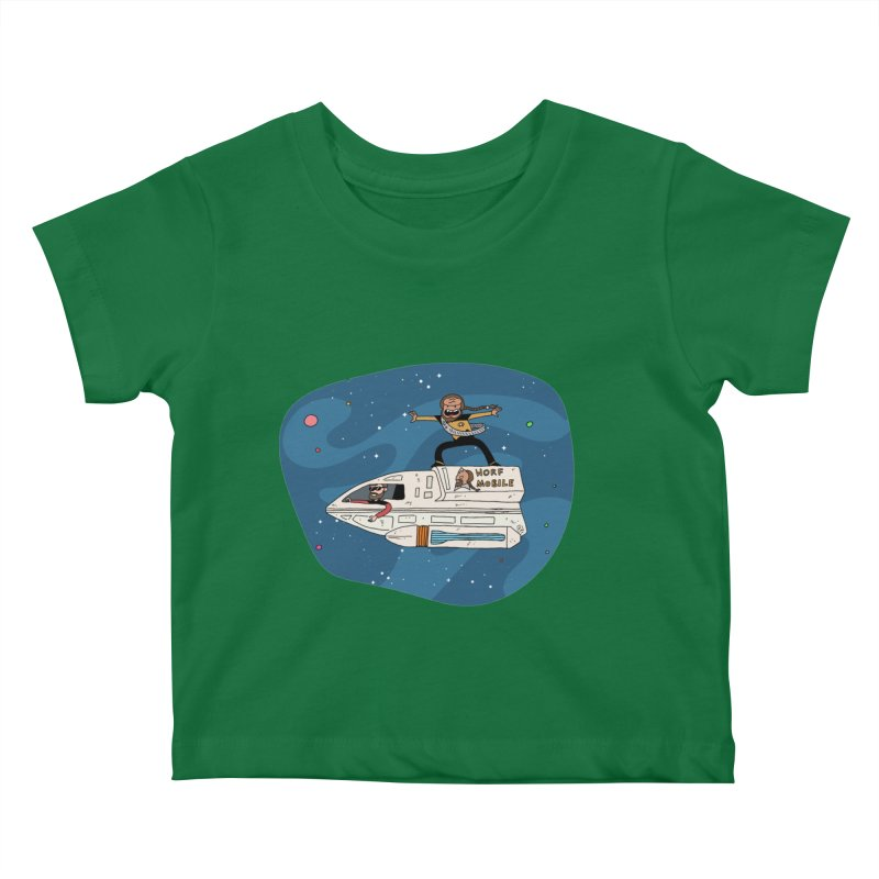 Teen Worf - These waves are mine, Commander. Kids Baby T-Shirt by Lee Draws Stuff