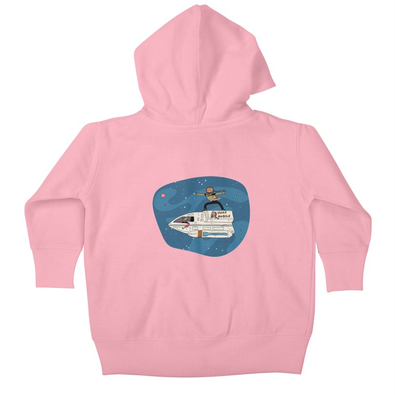 Teen Worf - These waves are mine, Commander. Kids Baby Zip-Up Hoody by Lee Draws Stuff
