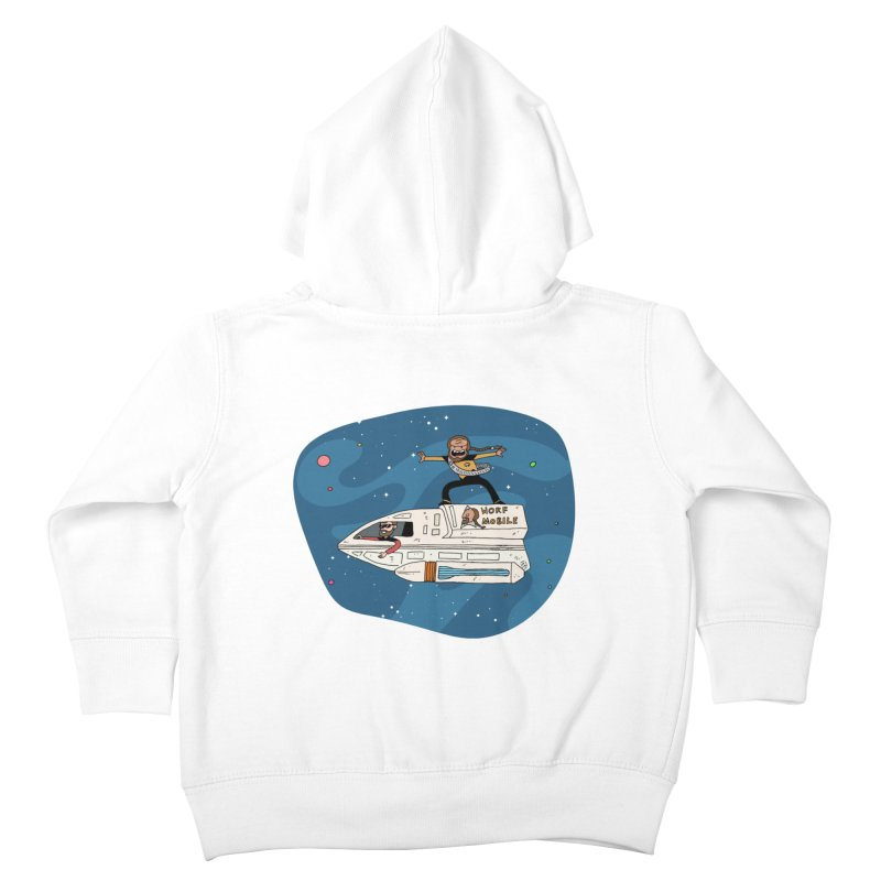Teen Worf - These waves are mine, Commander. Kids Toddler Zip-Up Hoody by Lee Draws Stuff