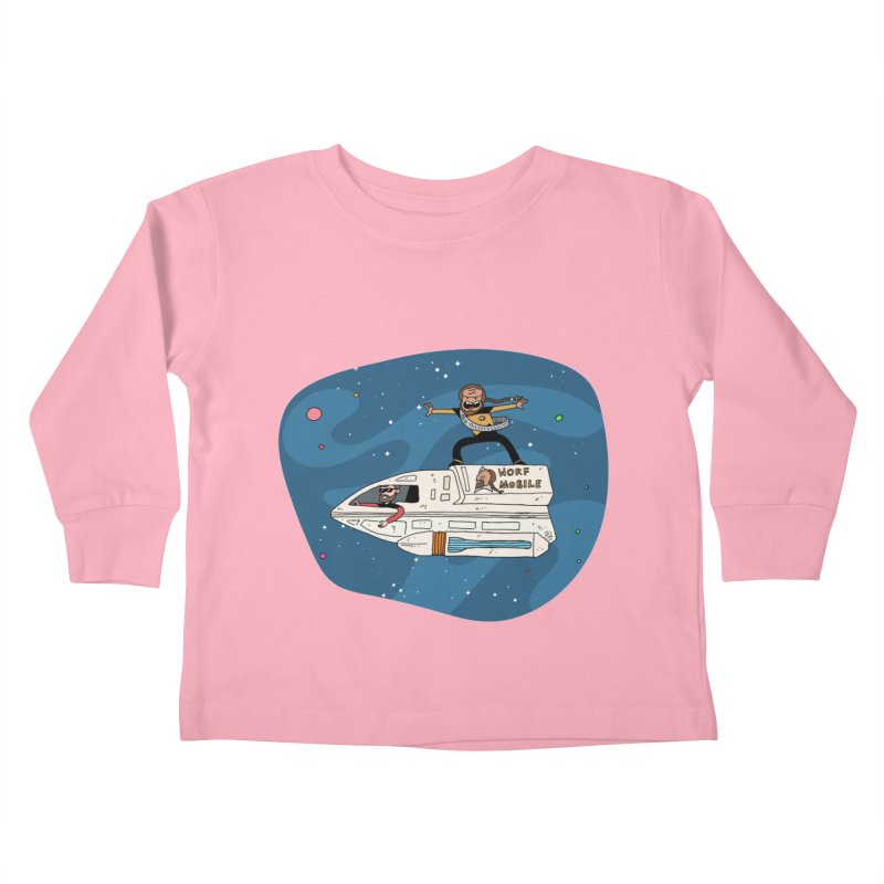Teen Worf - These waves are mine, Commander. Kids Toddler Longsleeve T-Shirt by Lee Draws Stuff