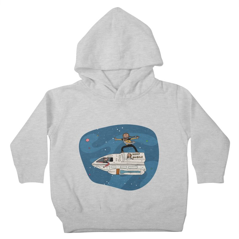 Teen Worf - These waves are mine, Commander. Kids Toddler Pullover Hoody by Lee Draws Stuff