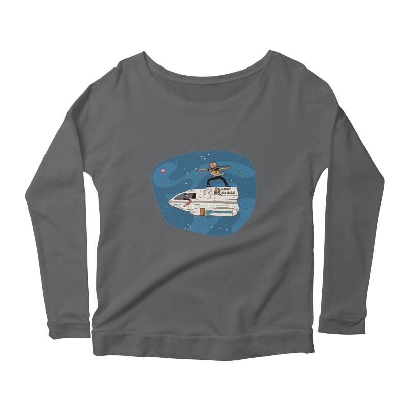 Teen Worf - These waves are mine, Commander. Women's Longsleeve T-Shirt by Lee Draws Stuff