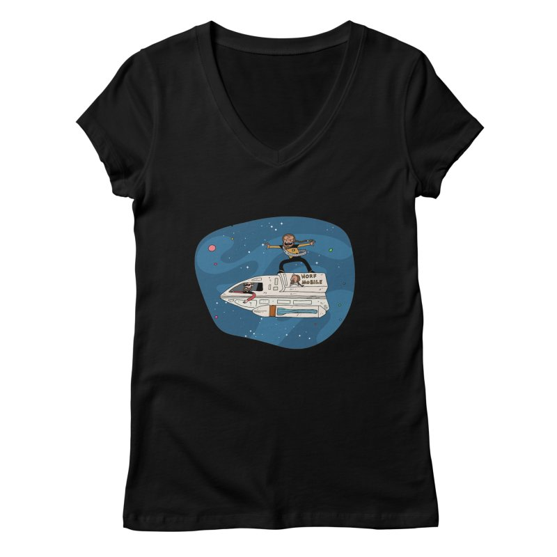 Teen Worf - These waves are mine, Commander. Women's V-Neck by Lee Draws Stuff