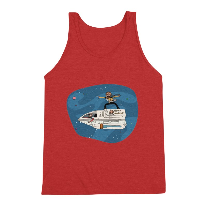 Teen Worf - These waves are mine, Commander. Men's Triblend Tank by Lee Draws Stuff