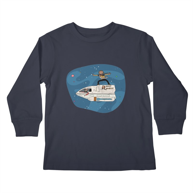 Teen Worf - These waves are mine, Commander. Kids Longsleeve T-Shirt by Lee Draws Stuff
