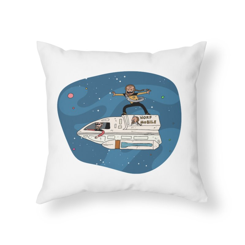 Teen Worf - These waves are mine, Commander. Home Throw Pillow by Lee Draws Stuff